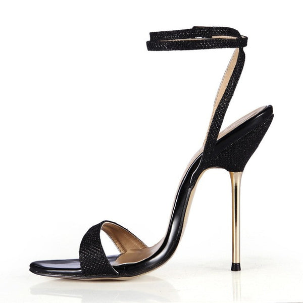 Sexy Snakeskin Ankle Strap Sandals 3 Colors Size 4 to 12 - Savage Garb