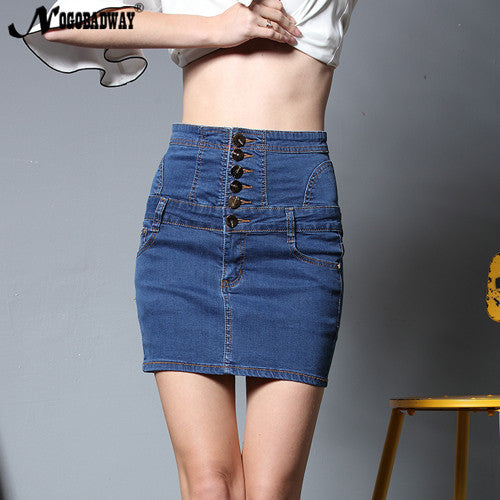 High Waisted Fitted Denim Skirt 2 Colors Available - Savage Garb