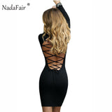 Long Sleeved Open Back BodyCon Dress 3 Colors - Savage Garb