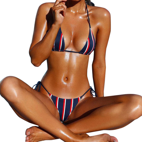 Sarah Striped String Bikini - Savage Garb