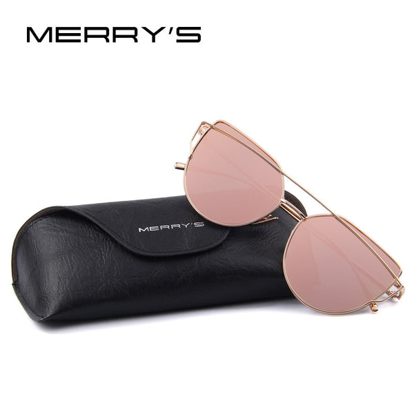 Women's Cat Eye Sunglasses Flat Panel Mirror Lens 12 Colors - Savage Garb