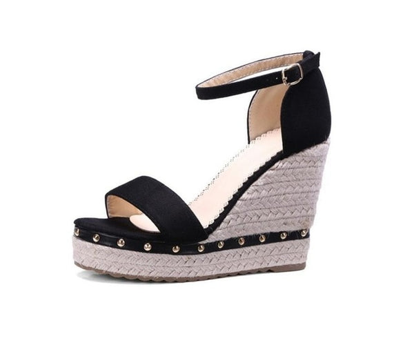 Sweet Studded Wedge Sandals 3 Colors - Savage Garb