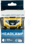 SE 150 Lumen Spotlight LED Headlamp with 4-Stage Switch - Yellow - Titan Security Products