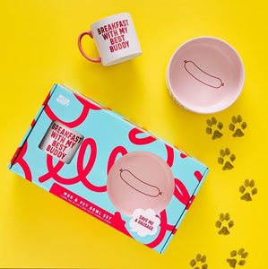 Mug & Pet Bowl Set Dog