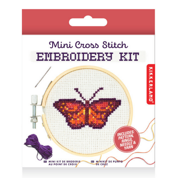 Mini Cross Stitch Embroidery Kit - Butterfly