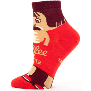Socks Women Ankle: Coffee Monster