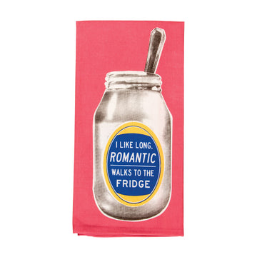 Dish Towel - Romantic Walks to the Fridge
