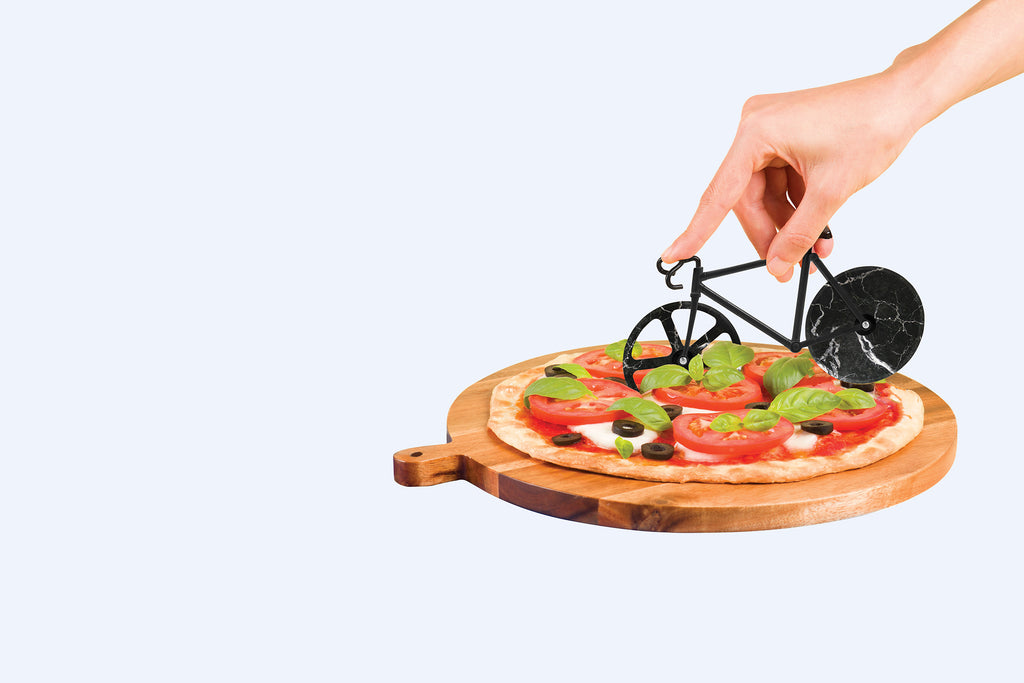 The Fixie Pizza Cutter Black Marble