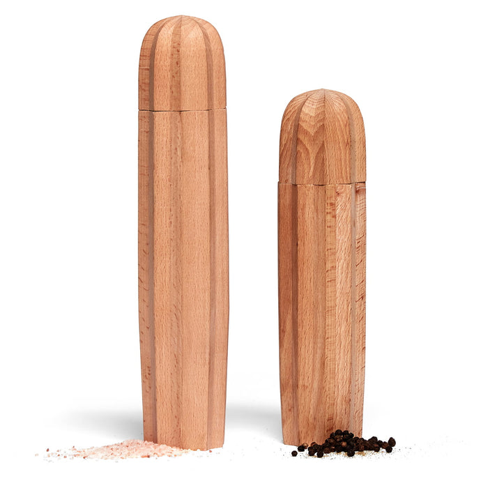 Cacti Natural Wood / Salt & Pepper Grinders