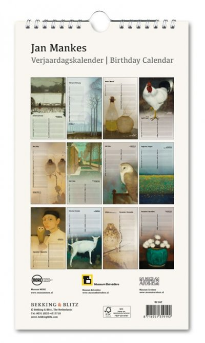 Birthday Calendar Jan Mankes