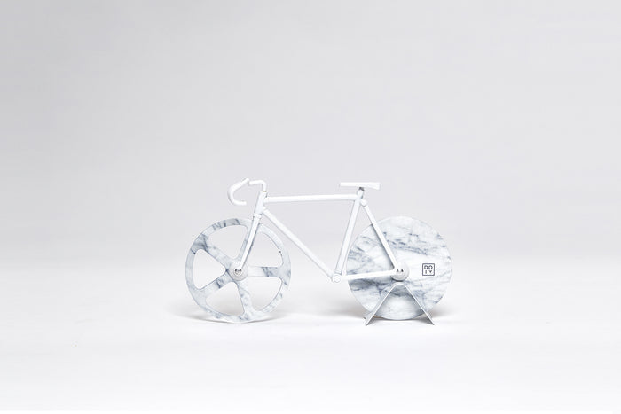 The Fixie Pizza Cutter White Marble