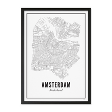 Load image into Gallery viewer, Framed Poster Amsterdam A3 format