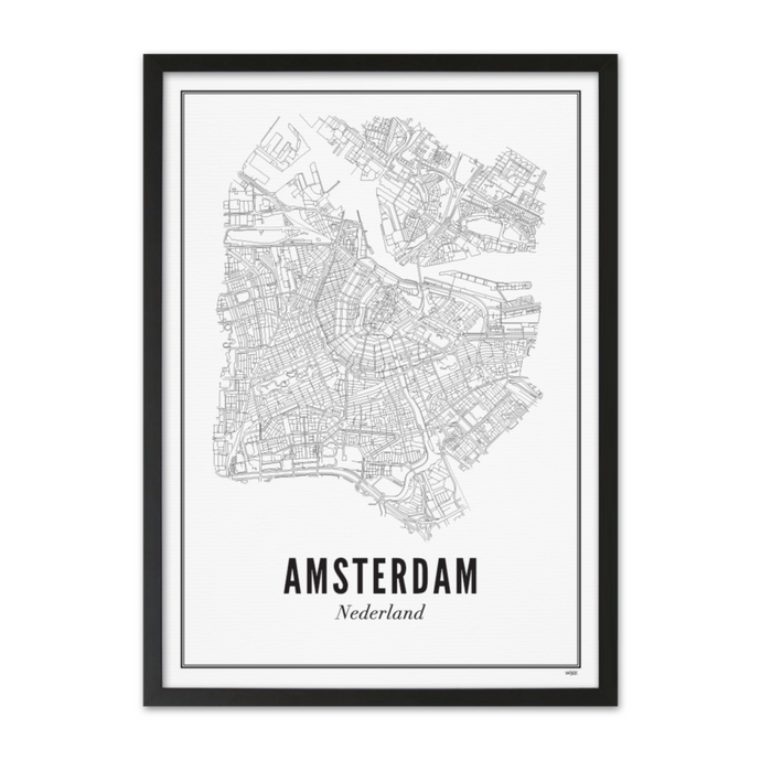 Gerahmtes Poster Amsterdam A3 Format