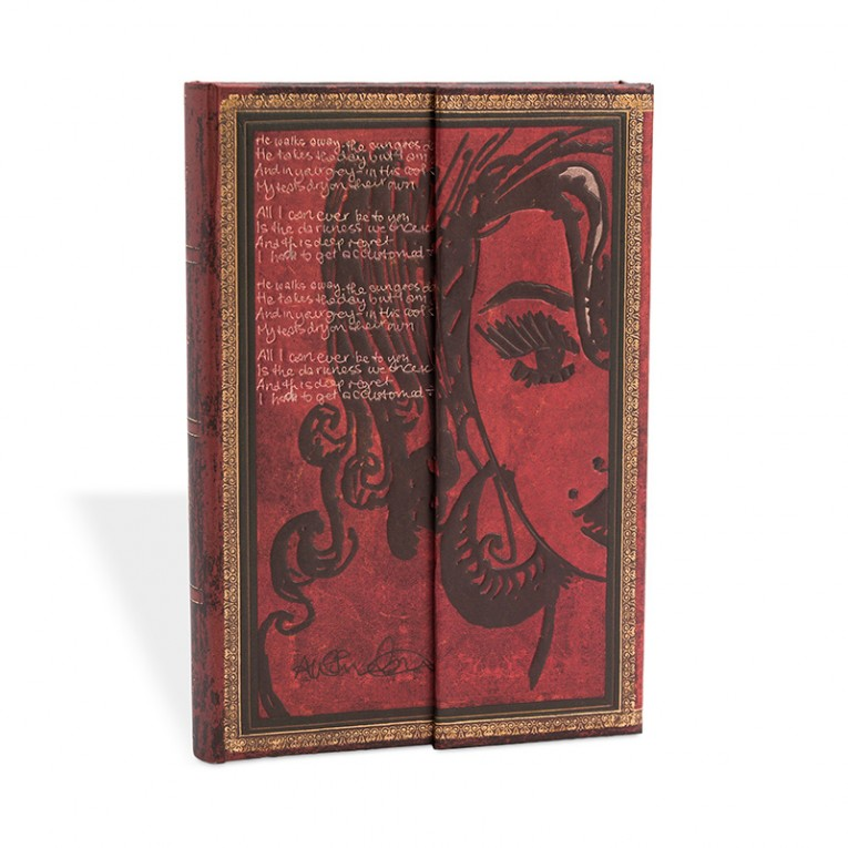 Paperblanks Notebook Midi Lined Winehouse, Tears Dry