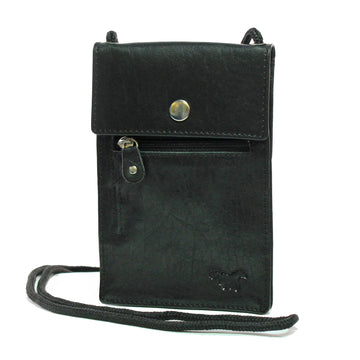 Neck Pouch Grey Black