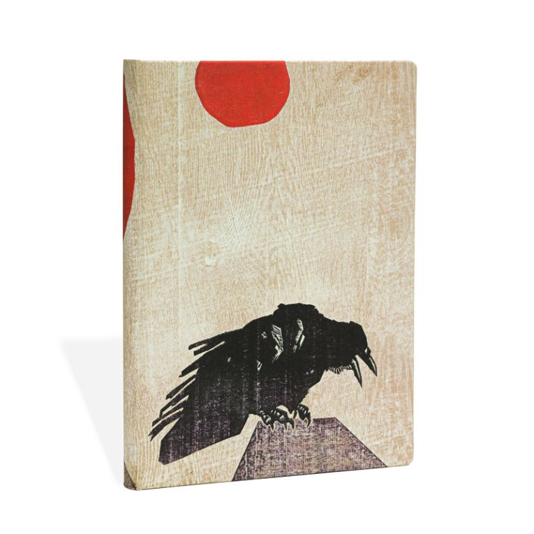 Paperblanks Notebook Midi Lined Crow Red Sun