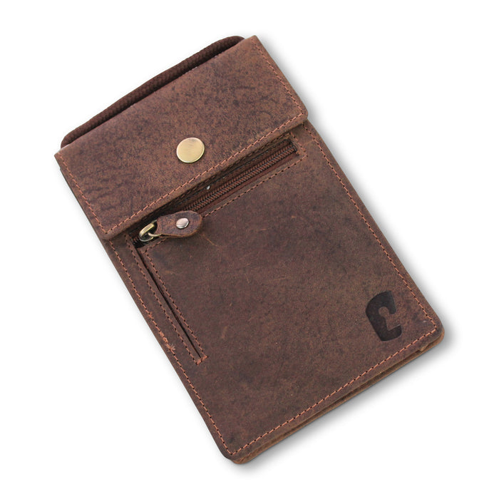 Neck Pouch Brown