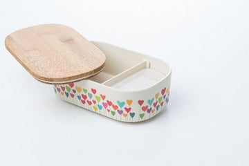 Bamboo Lunch Box Heart Garden