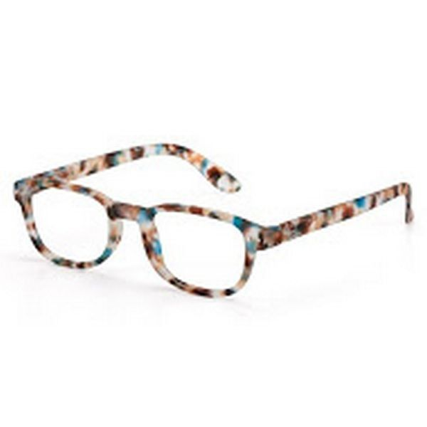 Izipizi #B turtle blue reading glasses +1
