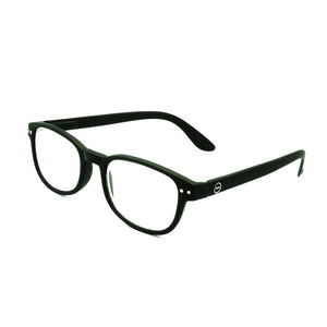 Izipizi #B black reading glasses +1