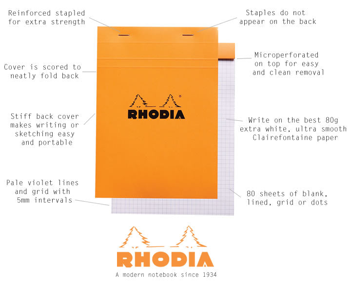 Rhodia Notepad Lined A4