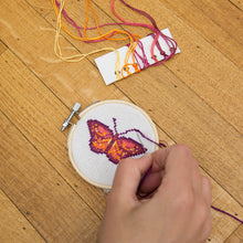 Load image into Gallery viewer, Mini Cross Stitch Embroidery Kit - Butterfly