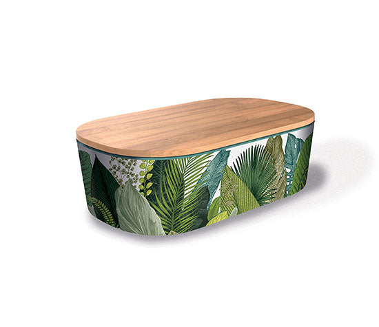 Bamboo Lunch Box Exotic Leaves