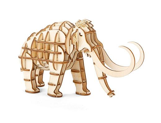 3D Wooden Puzzle: Mammoth
