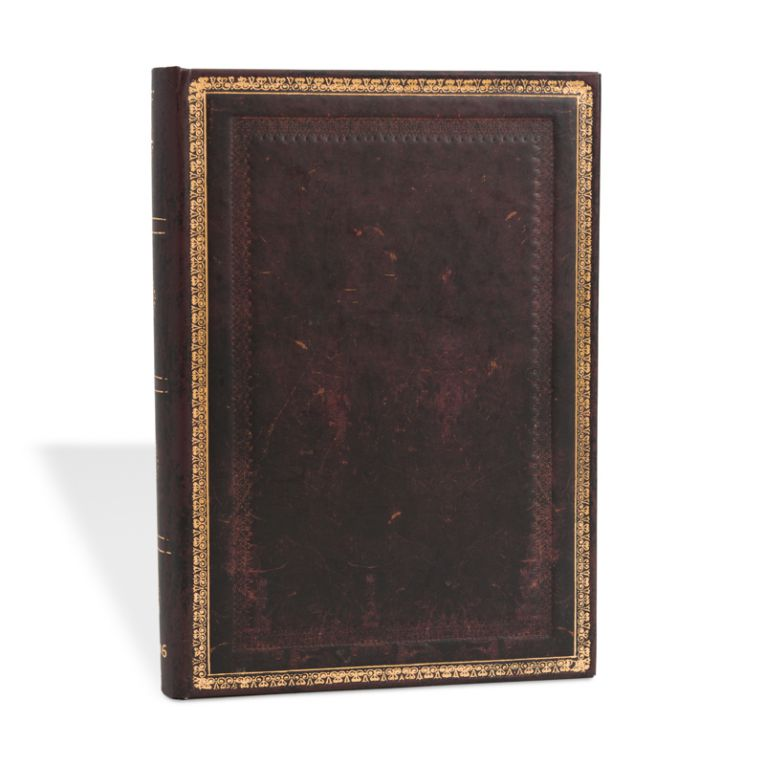 Paperblanks Notebook Midi Lined Black Moroccan