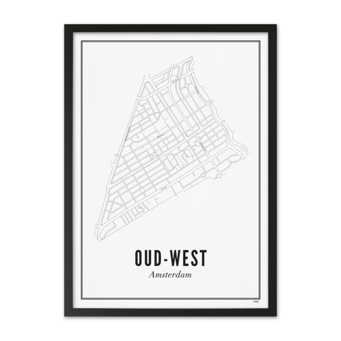 Framed Poster Oud-West A3 format
