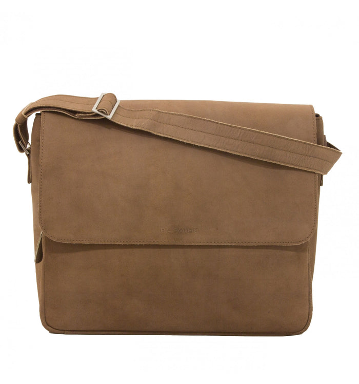 Plevier leather messenger bag