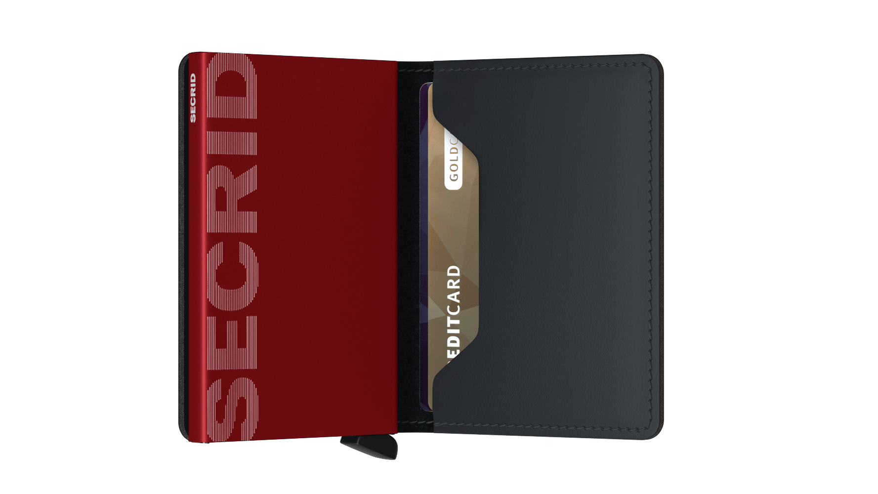 Secrid Slimwallet matte black & red