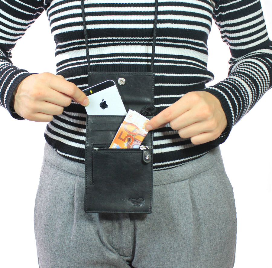 Neck Pouch Black
