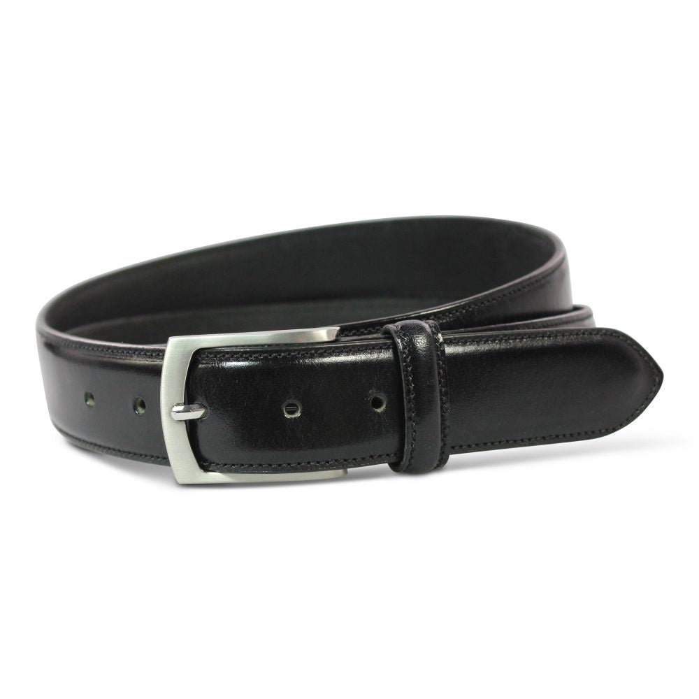 Leather two toned Belt Black