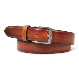 Leather two toned Belt cognac