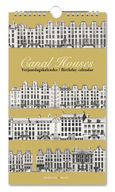 Birthday Calendar Canal Houses