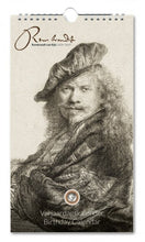 Load image into Gallery viewer, Birthday Calendar Rembrandt etchings