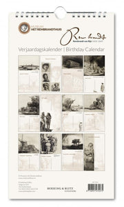 Birthday Calendar Rembrandt etchings