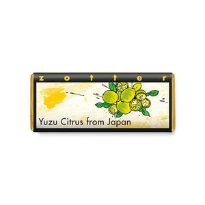 Zotter Hand-scooped chocolate Yuzu Citrus from Japan