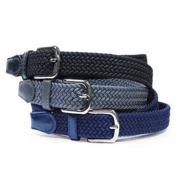 Women's Elasticated Belt Small Blue
