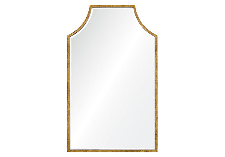 DISTRESSED GOLD LEAF MIRROR