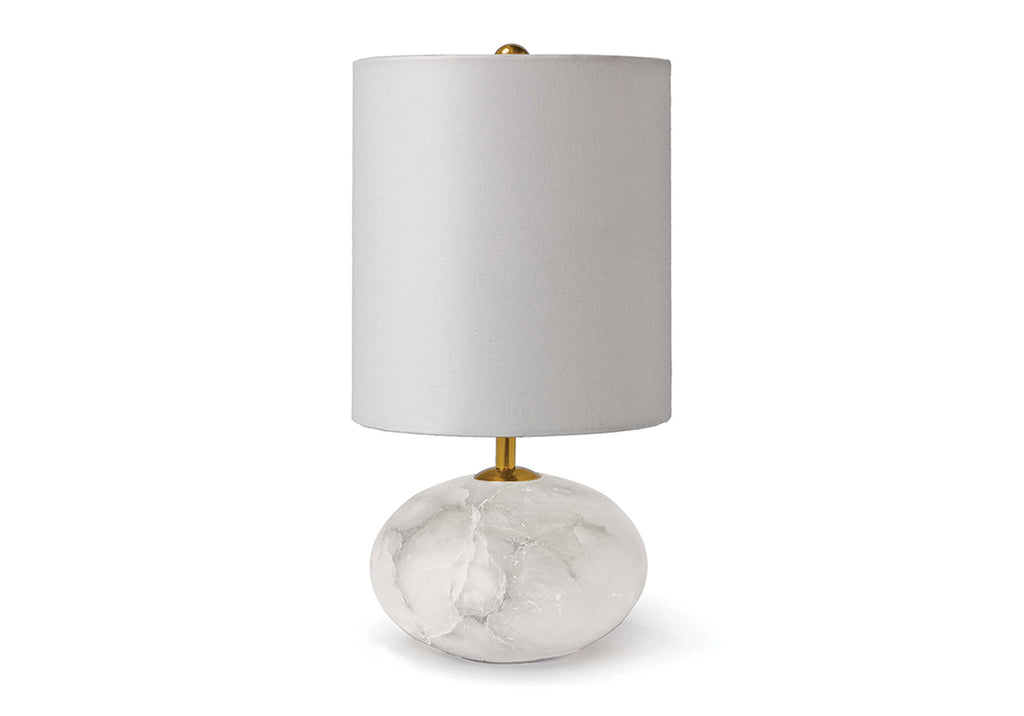 ALABASTER MINI ORB TABLE LAMP
