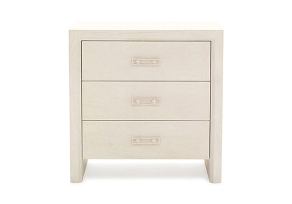 MALIBU 3 DRAWER BEDSIDE TABLE