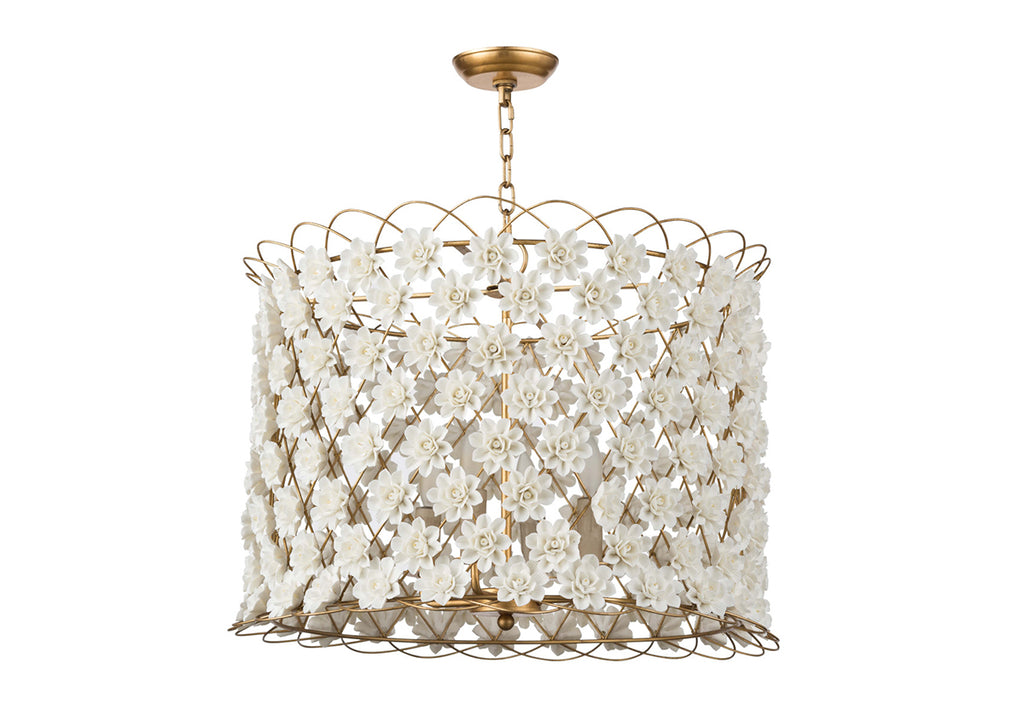 ADA PORCELAIN FLOWER CHANDELIER