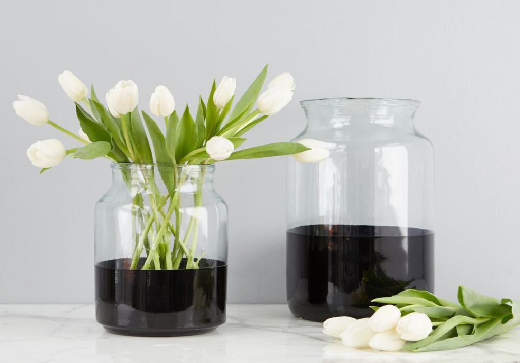 BLACK COLOR BLOCK JAR