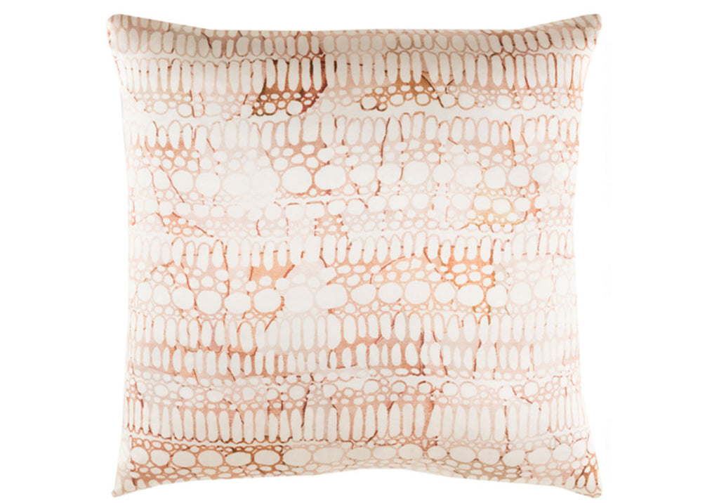 BURNT ORANGE SILK PILLOW