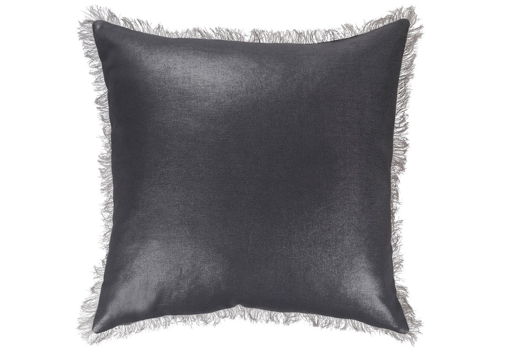 CHARCOAL GILDED LINEN PILLOW