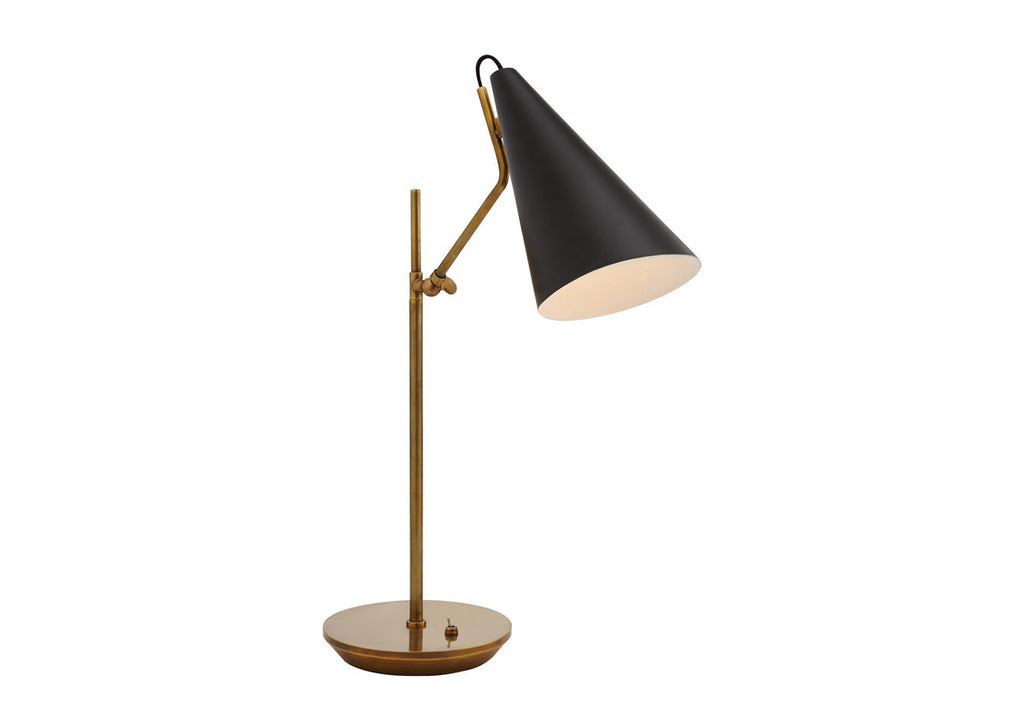 CLEMENTE TABLE LAMP BRASS W/ BLACK