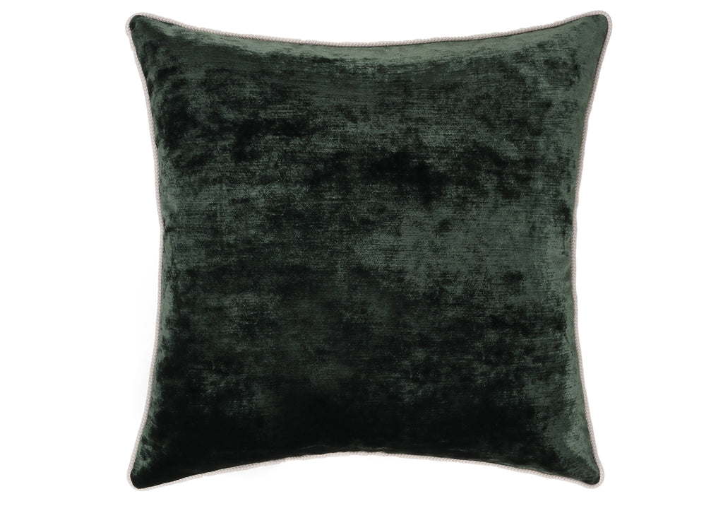 CORDED QUEEN'S VELVET PILLOW