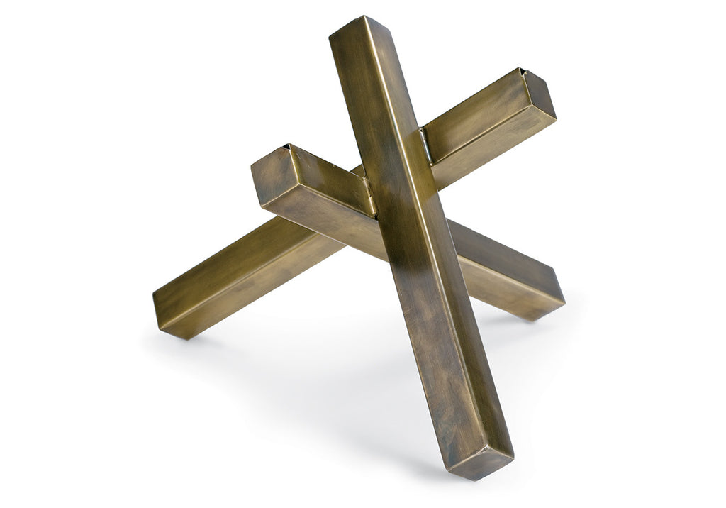INTERSECTING BRASS SCULPTURE